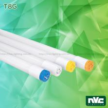 T8G-II 9W 18W - Bóng đèn tuýp LED T8 ống thẳng chụp nhựa cao cấp chống dập vỡ, chip SMD2835, Ra 80, PF 0.95, đầu đui đèn có thể xoay tròn thuận tiện khi lắp đặt