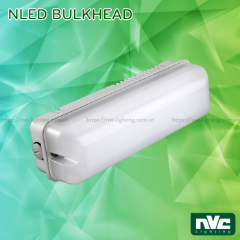 NLED Bulkhead 7W 10W 20W - Đèn LED ốp trần chống cháy nổ, IP54, thân nhôm đúc, mặt nhựa polycarbonate.