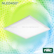 NLED450* - Đèn LED panel siêu mỏng, góc chiếu 110°, khung nhôm tổng hợp, sơn tĩnh điện chống gỉ, lắp nổi hoặc treo