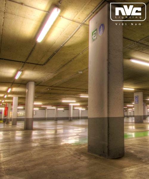 NLED491 18W, NLED492 36W, NLED493 54W - Bộ đèn tuýp LED IP66 chống ẩm, chống thấm, chống cháy nổ, góc chiếu 100° dùng nơi hầm xe, trạm xăng, kho