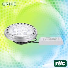 QR111E 20W - Bóng đèn LED AR111 thân nhôm đúc nguyên khối phủ sơn tĩnh điện chống ăn mòn, mắt vân chống chói, tương thích DIM