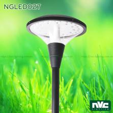 NGLED027 20W 36W - Đèn cột sân vườn cao 3.5m, CRI 70, chip Edison, IP55, thân bằng nhôm đúc và thép sơn tĩnh điện chống ăn mòn, bộ khuếch tán PMMA xuyên sáng cao, tạo độ chói thấp