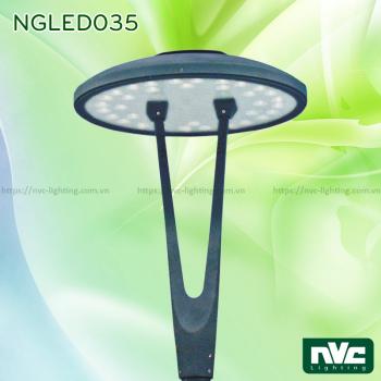 NGLED035 20W 36W - Đèn cột sân vườn cao 3.5m, CRI 70, chip Edison, IP55, thân hợp kim nhôm đúc thép sơn tĩnh điện chống oxy hóa, lens khuếch tán PMMA mờ chống chói, xuyên sáng cao, ngăn tia cực tím