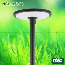 NGLED036 50W - Đèn cột sân vườn cao 3.5m, CRI 70, chip Edison, IP55, thân nhôm đúc và thép sơn tĩnh điện chống ăn mòn, khuếch tán PMMA xuyên sáng cao, chống lóa, ngăn tia cực tím, tạo độ chói thấp