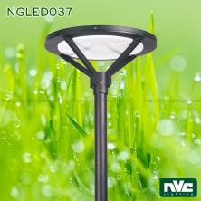 NGLED037 50W - Đèn cột sân vườn cao 3.5m, CRI 70, chip Edison, IP55, thân nhôm đúc thép sơn tĩnh điện chống oxy hóa, lens khuếch tán PMMA cao cấp truyền dẫn ánh sáng, chống lóa và ngăn tia cực tím