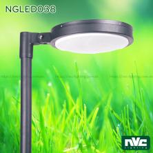 NGLED038 50W - Đèn cột sân vườn cao 3.5m, CRI 70, chip Edison, IP55, thân nhôm đúc và thép sơn tĩnh điện chống oxy hóa, bộ khuếch tán PMMA cao cấp truyền dẫn ánh sáng và chống lóa, ngăn tia cực tím, tạo độ chói thấp