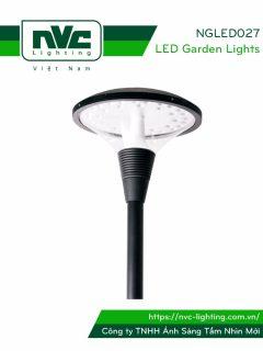 NGLED027 - Đèn cột sân vườn 20W-36W, cao 3.5m, CRI>70, chip EDISON, IP55, thân bằng nhôm đúc & thép sơn tĩnh điện chống oxy hóa & ăn mòn; bộ khuếch tán PMMA cao cấp truyền dẫn ánh sáng & chống lóa, ngăn tia cực tím, tạo độ chói thấp