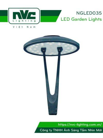 NGLED035 - Đèn cột sân vườn 20W-36W, cao 3.5m, CRI>70, chip EDISON, IP55, thân bằng nhôm đúc & thép sơn tĩnh điện chống oxy hóa & ăn mòn; bộ khuếch tán PMMA cao cấp truyền dẫn ánh sáng & chống lóa, ngăn tia cực tím, tạo độ chói thấp
