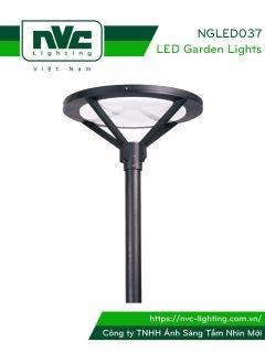 NGLED037 - Đèn cột sân vườn 50W, cao 3.5m, CRI>70, chip EDISON, IP55, thân bằng nhôm đúc & thép sơn tĩnh điện chống oxy hóa & ăn mòn; bộ khuếch tán PMMA cao cấp truyền dẫn ánh sáng & chống lóa, ngăn tia cực tím, tạo độ chói thấp