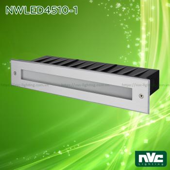 NWLED4510 2.5W-14W - Đèn LED dẫn hướng chiếu lối đi ngoài trời hình chữ nhật, IP65, thân nhôm đúc cao cấp, vành inox 316 không han gỉ, kính cường lực 6mm, Ra 80