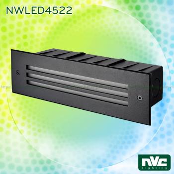 NWLED4521 5W 6W, NWLED4522 5.5W 7.5W - Đèn dẫn hướng ngoài trời IP65, hình chữ nhật, thân hợp kim nhôm đúc cao cấp, vành inox 316 không han gỉ, vỏ hộp ABS cao cấp chịu lực, Ra 80