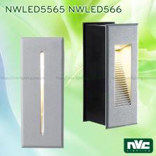 NWLED5565 NWLED5566 4W - Đèn LED dẫn hướng chiếu lối đi ngoài trời, lắp âm tường, IP65, chip Cree loại dọc, thân nhôm đúc cao cấp, vân tán sáng đều, Ra 80, tuổi thọ 30.000h