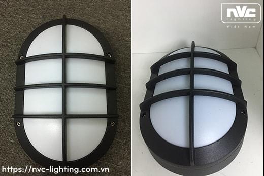 NWLED3503 9W IP54 – Đèn LED gắn tường nhiều kiểu dáng, chiếu hành lang, ban công, thân nhôm đúc nguyên khối hình oval