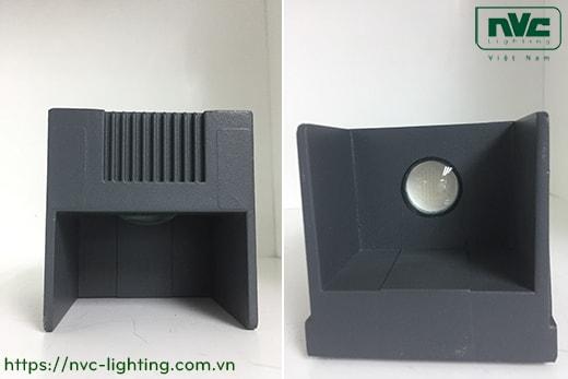 NWLED3515 7W NWLED3516 14W – Đèn LED surface wall light gắn tường IP54 45° mặt vuông, chiếu 1 đầu & 2 đầu, chip CREE, thân nhôm đúc, kính cường lực trong
