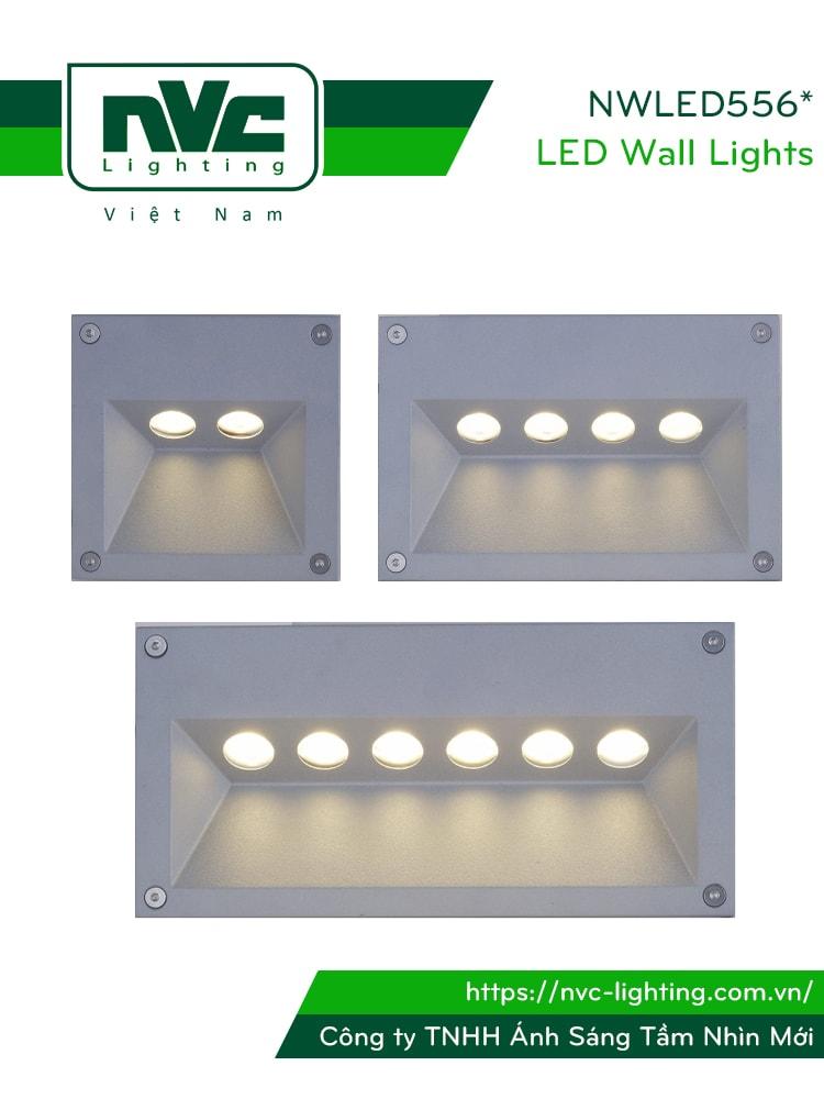 NWLED5561 3.5W, NWLED5562 5W, NWLED5563 7.5W - Đèn dẫn hướng chiếu lối đi, chip Cree IP65, thân nhôm đúc cao cấp, Ra > 80, tuổi thọ 30.000h