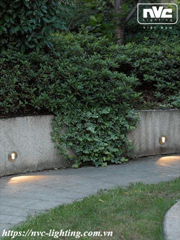 Ứng dụng chiếu sáng đèn LED âm bậc cầu thang NWLED5571A