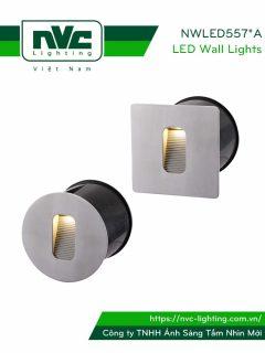NWLED5571A NWLED5572A 4W - Đèn dẫn hướng LED chiếu lối đi ngoài trời, chip Cree IP65 đạt chuẩn CE, thân hợp kim nhôm đúc cao cấp, mặt inox 304 chống gỉ, vân tán sáng đều, Ra > 80, tuổi thọ 30.000h