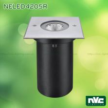 NELED4205 6.5W - Đèn LED chôn đất chiếu rọi chip COB Sharp, thân nhôm đúc, mặt inox 316, kính cường lực 8mm, chịu lực tối đa 2000kg, IP67