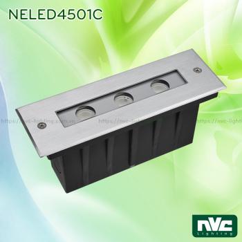 NELED4501C 7W - Đèn LED âm đất dẫn hướng, chip Osram, thân inox 316L, kính cường lực 8mm, chịu lực tối đa 2000kg Ø60mm, IP67