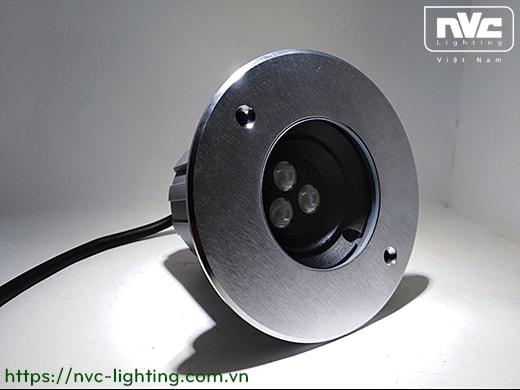 NELED4233 6W - Đèn âm đất rọi chỉnh hướng 60°, chip Osram, thân nhôm đúc, mặt inox 316, kính cường lực 8mm, chịu lực tối đa 1285kg, Ø30mm IP67