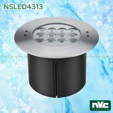 NSLED4313 29W 34W - Đèn LED âm nước thân inox 316, kính cường lực 7mm chịu lực tối đa 1693kg, Ø60mm, đệm cao su EDPM kín nước, chip Osram, IP68