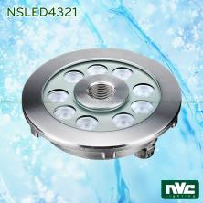 NSLED4321 17W 25W - Đèn LED âm nước dạng bánh xe, thân inox 316, kính cường lực 8mm, đệm cao su EDPM kín nước, chip Osram, IP68