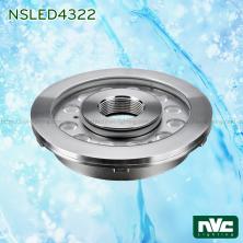 NSLED4322 30W 34W - Đèn LED âm nước bánh xe, thân inox 316, kính cường lực 8mm, đệm cao su EDPM kín nước, chip Osram, IP68