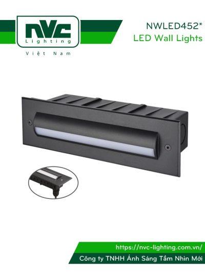 NWLED4525 - Đèn LED ram dốc 5W-7W IP65 hình chữ nhật, mặt kính mờ, thân hợp kim nhôm đúc cao cấp, Ra > 80, tuổi thọ 30.000h, sản phẩm đạt chuẩn CE xuất khẩu châu Âu
