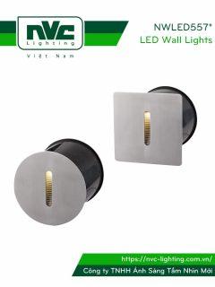 NWLED5571 NWLED5572 4W - Đèn LED dẫn hướng chiếu lối đi ngoài trời, chip Cree IP65 đạt chuẩn CE, góc chiếu sáng hẹp, thân hợp kim nhôm đúc cao cấp, mặt inox 304 chống gỉ, vân tán sáng đều, Ra > 80, tuổi thọ 30.000h