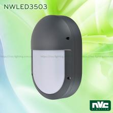 NWLED3503 9W IP54 - Đèn LED gắn tường nhiều kiểu dáng, chiếu hành lang, ban công, thân nhôm đúc nguyên khối hình oval