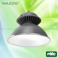 NHLED10* - Đèn LED công nghiệp - LED Highbay COB IP65 cao cấp cho nhà xưởng, gara, nhà kho, thân đèn và tản nhiệt bằng nhôm đúc nguyên khối phủ lớp sơn tĩnh điện chống ăn mòn
