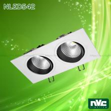 NLED541 12W, NLED542 24W, NLED543 36W - Đèn LED multiple light COB chóa vân tán sáng, mặt lõm đế mỏng, mặt sơn tĩnh điện