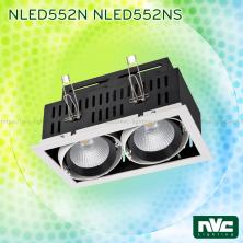 NLED551N/NS 12W/20W , NLED552N/NS 2x12W/20W, NLED553N/NS 3x12W/20W - Đèn multiple light COB chóa vân tán sáng, chấn lưu rời