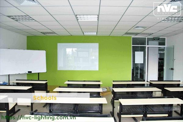 Đèn LED panel NVC trong ứng dụng chiếu sáng trường học