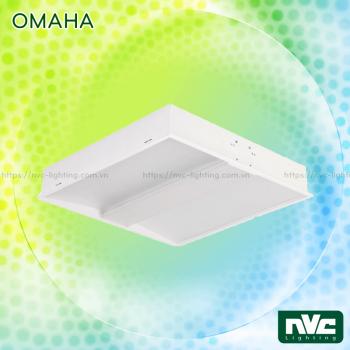 OMAHA NOM3400 - Bộ máng đèn module phản quang 600x600, có thể chuyển đổi trực tiếp sang gián tiếp, vỏ thép sơn tĩnh điện chống gỉ