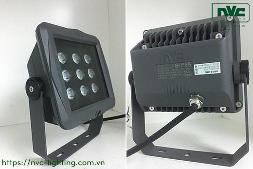 NFLED202 18W 36W – Đèn pha LED ngoài trời mặt vuông/chữ nhật IP65, thân hợp kim nhôm đúc nguyên khối phủ sơn tĩnh điện chống ăn mòn, mắt vân chống chói, chip Cree/ETI, góc chiếu 15°/30°/60°, CRI> 70