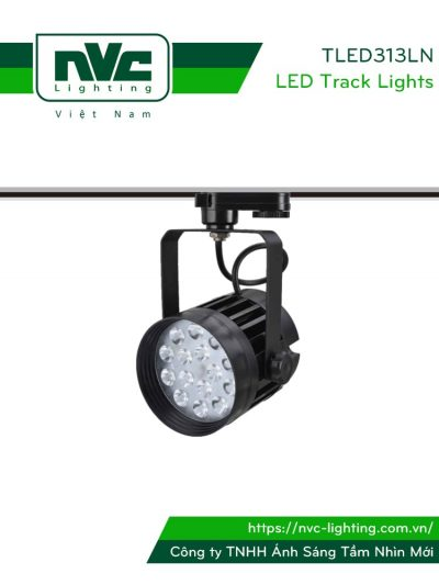 TLED313LN - Đèn rọi ray SMD liền khối, thân nhôm đúc, sơn tĩnh điện, vân tán sáng, màu đen tuyền hoặc trắng sữa