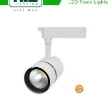 TLED318N - Đèn rọi ray COB liền khối, thân nhôm đúc, sơn tĩnh điện, vân tán sáng CRI 90