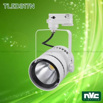 TLED317N 35W 50W, CRI 90 - Đèn rọi thanh ray LED COB liền khối, thân nhôm đúc sơn tĩnh điện, vân tán sáng