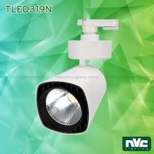 TLED319N 35W 50W, CRI 90 - Đèn rọi thanh ray LED COB liền khối, mặt vuông, thân nhôm đúc sơn tĩnh điện, vân tán sáng