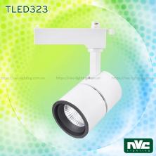TLED323 15W 20W - Đèn rọi thanh ray LED COB liền khối, thân nhôm đúc, sơn tĩnh điện chống han gỉ