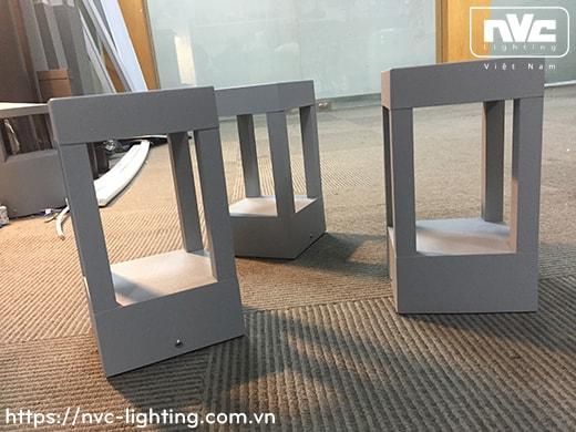 NGLED5653 9W - Đèn trụ sân vườn IP54 chip Cree, thân hợp kim nhôm cán cao cấp phủ sơn tĩnh điện chống oxy hóa, lens kính tán quang đều 4 góc, cao 200mm hoặc 650mm