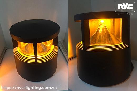 NGLED3562 14W - Đèn nấm sân vườn LED SMD IP54, thân hợp kim nhôm cán cao cấp phủ sơn tĩnh điện chống han gỉ, lens PC trong khuếch tán ánh sáng tốt, cao 210mm