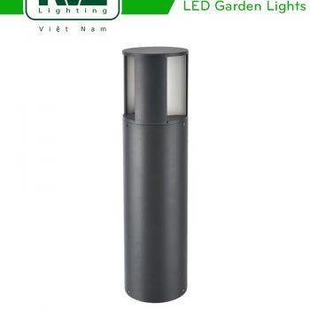 NGLED3604 - Đèn trụ sân vườn IP54 15W, thân bằng hợp kim nhôm cán cao cấp phủ sơn tĩnh điện chống han gỉ, lens PC mờ chống chói, cao 601mm