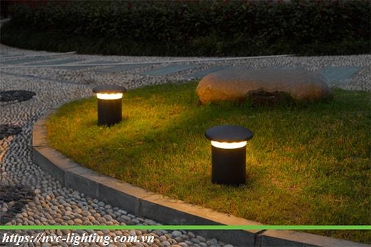 NGLED5612 - Đèn trụ nấm sân vườn 12W, thân hợp kim nhôm cán cao cấp phủ sơn tĩnh điện chống oxy hóa, lens PC chống chói, chip CREE, IP54, cao 220mm & 750mm
