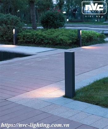 NGLED5613 - Đèn trụ sân vườn 9W chip CREE COB IP54, thân hợp kim nhôm cán cao cấp phủ sơn tĩnh điện chống oxy hóa, cao 250mm & 650mm