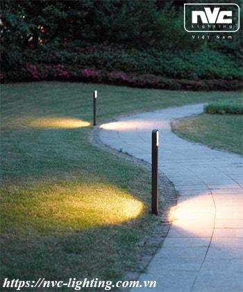 NGLED5623 - Đèn trụ sân vườn 9W chip CREE IP54, thân hợp kim nhôm cán cao cấp phủ sơn tĩnh điện chống oxy hóa, lens khuếch tán ánh sáng đều 2 bên, cao 350mm & 650mm