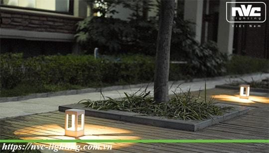 NGLED5653 - Đèn trụ sân vườn 9W IP54 chip CREE, thân hợp kim nhôm cán cao cấp phủ sơn tĩnh điện chống han gỉ, lens kính lồi tán quang đều 4 góc, cao 200mm & 650mm