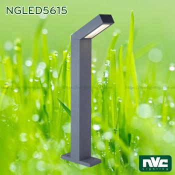 NGLED5615 9W - Đèn trụ sân vườn IP54 chip Cree, thân hợp kim nhôm cán cao cấp phủ sơn tĩnh điện chống oxy hóa, lens PC mờ chống chói, cao 650mm