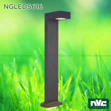 NGLED5616 7.5W - Đèn trụ sân vườn chip Cree IP54, thân hợp kim nhôm cán cao cấp phủ sơn tĩnh điện chống han gỉ, lens PC trong xuyên sáng tốt, cao 750mm